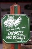 Pannello condotto da Forest Authority nazionale francese Fotografia Stock Libera da Diritti