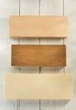 Pannello del bordo su legno Fotografia Stock Libera da Diritti