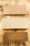 Pannello del bordo su legno Immagine Stock