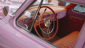 Pannello del cruscotto di retro automobile archivi video