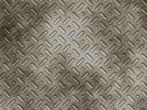 Pannello del metallo con gli urti strutturati Fotografie Stock Libere da Diritti