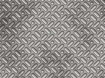 Pannello del metallo con gli urti strutturati Fotografie Stock