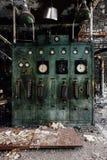 Pannello di controllo abbandonato - vecchia distilleria abbandonata del corvo - il Kentucky fotografia stock