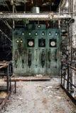 Pannello di controllo abbandonato - vecchia distilleria abbandonata del corvo - il Kentucky fotografia stock libera da diritti
