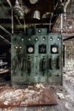 Pannello di controllo abbandonato - vecchia distilleria abbandonata del corvo - il Kentucky immagine stock libera da diritti