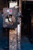 Pannello di controllo abbandonato - vecchia distilleria abbandonata del corvo - il Kentucky fotografie stock libere da diritti