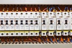 Pannello di controllo con gli interruttori immagine stock