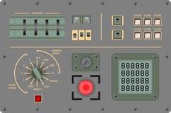 Pannello di controllo d'annata analogico - illustrazione di vettore Fotografie Stock Libere da Diritti