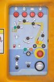 Pannello di controllo del macchinario edile Immagini Stock