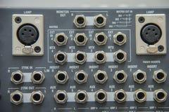 Pannello di controllo del miscelatore sano Fotografia Stock