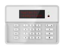 Pannello di controllo dell'allarme illustrazione di stock