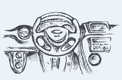 Pannello di controllo dell'automobile Illustrazione di vettore illustrazione di stock