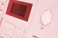 Pannello di controllo della caldaia di gas fotografia stock libera da diritti