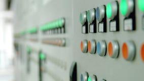 Pannello di controllo della fabbrica con i bottoni Fotografie Stock Libere da Diritti