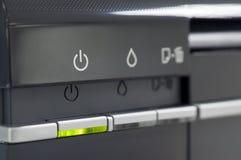 Pannello di controllo della stampante immagini stock