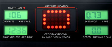 Pannello di controllo di frequenza cardiaca Fotografia Stock