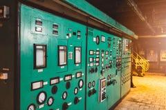 Pannello di controllo e commutatori Fotografia Stock