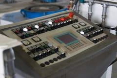 Pannello di controllo industriale moderno con i bottoni Immagini Stock Libere da Diritti