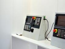 Pannello di controllo di macinazione della macchina di CNC con esposizione fotografia stock libera da diritti
