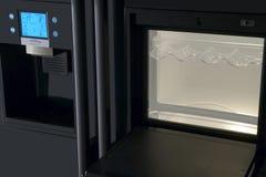 Pannello di controllo moderno dell'esposizione del frigorifero Fotografie Stock Libere da Diritti
