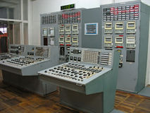 Pannello di controllo nella centrale elettrica Fotografie Stock Libere da Diritti