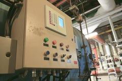 Pannello di controllo per dirigere la caldaia Immagine Stock