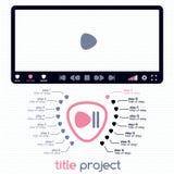 Pannello di controllo per la presentazione interattiva Fotografie Stock