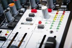 Pannello di controllo sano del miscelatore di musica Immagine Stock Libera da Diritti