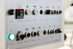 Pannello di controllo di una macchina industriale immagine stock