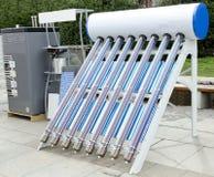 Pannello di energia solare per acqua calda Fotografia Stock Libera da Diritti