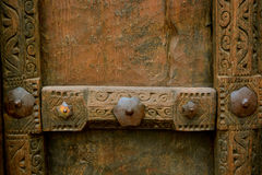 Pannello di legno antico della porta Fotografia Stock Libera da Diritti