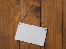 Pannello di legno bianco Fotografia Stock Libera da Diritti