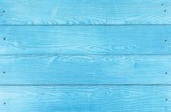 Pannello di legno blu Fotografia Stock