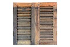Pannello di legno della finestra Fotografia Stock Libera da Diritti