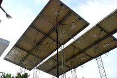 Pannello di potere elettrico-solare Fotografia Stock Libera da Diritti
