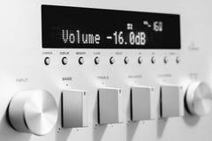 Pannello frontale del ricevitore dell'amplificazione del suono Immagine Stock
