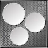 Pannello grigio Fotografia Stock Libera da Diritti