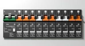Pannello interruttore elettrico illustrazione di stock