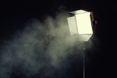Pannello leggero principale con effetto del fumo Fotografia Stock