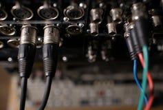 Pannello posteriore del registratore professionale fotografia stock
