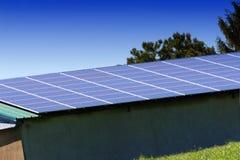 Pannello solare, alimentazione fotovoltaica e alternativa immagine stock
