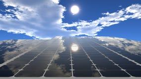 Pannello solare contro il cielo fotografia stock libera da diritti