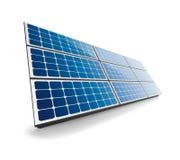 Pannello solare isolato Fotografia Stock Libera da Diritti