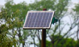 Pannello solare rustico Immagine Stock