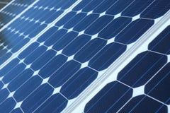 Pannels solaires bleus Photo stock