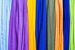 Panni e sete colorati dal Marocco Fotografia Stock