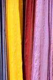 Panni e sete colorati dal Marocco Fotografia Stock Libera da Diritti