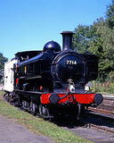 Pannier tank steam locomotive, Highley. Stock Images