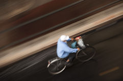 Panning. A bicycle air panning with a long exposure time Stock Images