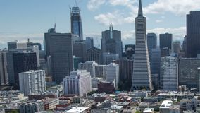 Panoramic Panning San Francisco View. Panning Aerial View of Downtown San Francisco stock video